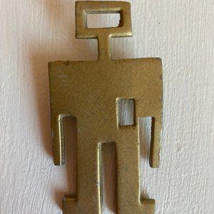 Modern Art Vintage Figure Bronze Pin